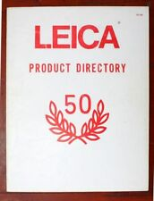 1976 LEICA CAMERA PRODUCT DIRECTORY 50th ANV CATALOG -M5-MDA-CL-LEICAFLEX SL SL2