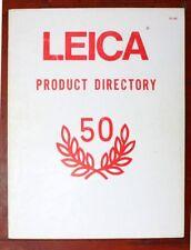 1975 LEICA CAMERA PRODUCT DIRECTORY 50th ANV CATALOG -M5-MDA-CL-LEICAFLEX SL SL2