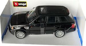 Range Rover Sport in black 1:18 scale model from Bburago