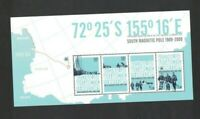 AAT57) Australian Antarctic Territory 2009 South Magnetic Pole Minisheet MUH