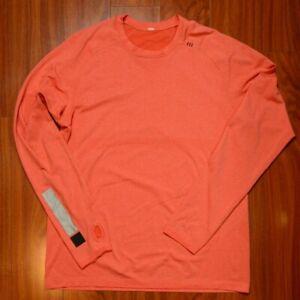 Lululemon Mens Shirt Size Large Metal Vent Tech Long Sleeve Pink Salmon