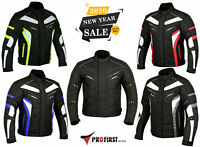 Men's Motorcycle Motorbike Jacket Waterproof Textile With CE Armoured 6 Colours