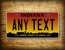 Indiana Personalized License Plate Customized Auto Tag ~HOOSIERS~ Sunset Farm IN
