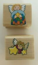 Noteworthy Stamps Playful Angels Mounted Miniature Rubber Stamps Lot 2 Crafting