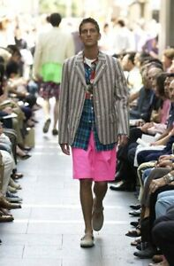 Comme Des Garcons Homme Plus 2001/2002 Neon Pink Trousers Runway Archive