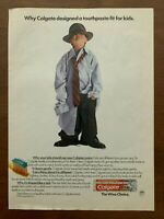 1988 Colgate Toothpaste Vintage Print Ad/Poster Kids Retro Pop Art Decor