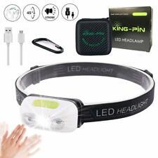 Linterna Frontal LED Linterna de Cabeza USB  (Linterna Frontal de Sensor)