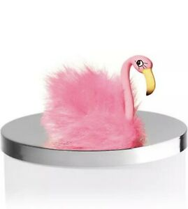 Bath & Body Works Pink Flamingo Fluffy Magnet 3 Wick Candle Topper