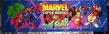 "Marvel Super Heroes vs Street Fighter Arcade Marquee 26""x8"""