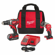 "Milwaukee M18 18V Li-Ion Compact 1/2"" Drill Kit w/LED Work Light  2606-21L new"