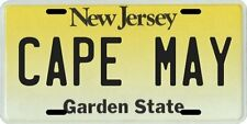 Cape May New Jersey Aluminum License Plate