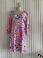Lilly Pulitzer Devon Dress, Tiki Pink, XS