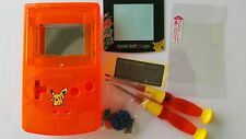CARCASA COMPLETA+PANTALLA COMPATIBLE GAME BOY COLOR POKEMON2 NEW CLEAR NE
