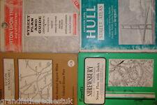 FOUR LOCAL TOWN STREET GUIDE MAPS BARNETTS LUTON SHREWSBURY HULL BURTON OLDER