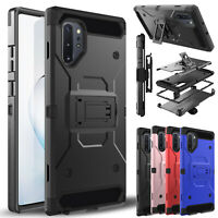 For Samsung Galaxy Note 10 Case Belt Clip Kickstand Holster Holder Rugged Cover