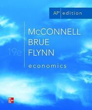 Economics by McConnell, Brue, and Flynn~19th edition AP edition~Good condition