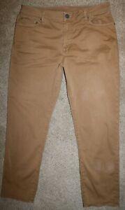 Mens AE American Eagle Slim Straight Flex Khaki Pants 34 x 30