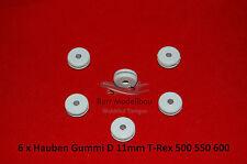 6 x Hauben Gummi D11mm T-Rex 500 550 600 CopterX KDS Canopy Befestigung Heli