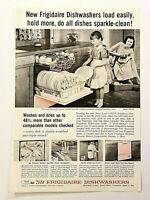 1958 Magazine Advertisement Page Frigidaire Dishwashers Dish Washing Dishes Ad