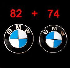 BMW 82mm Emblem Abdeckung Motorhaube Heckklappe Plakette Deckel Logo Badge 74mm
