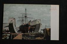 Ca 1905 HMS Bellerophon (in Drydock) Bermuda Postcard