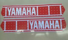 YAMAHA YZ 250 400 465 VINTAGE PERFORATED TANK DECALS GRAPHICS twinshock red