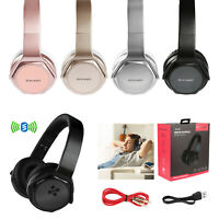 Wireless Stereo Headphone FM NFC Aux-in Headset Handsfree Foldable Mic