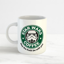 May The Froth Be With You, Funny Starbucks Star Wars Fan Mug Cup