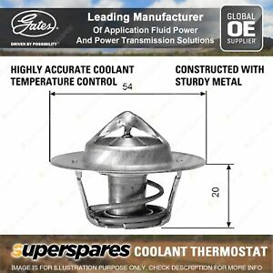 Gates Coolant Thermostat + Gaskets & Seals for Holden H Series HQ GMH 173 2.8L