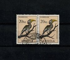 Port. Angola BIRDS Used 20 Angolares Horizontal Pair #345 Mundifil
