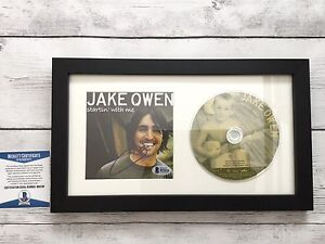 Jake Owen Signed Startin' With Me CD Cover Framed Beckett BAS COA Autographed a