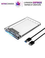 Boîtier de disque dur externe USB 3.0 pour SATA et SSD de 2,5 pouces max 2 TB