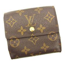 Auth Louis Vuitton Double Sided Wallet Monogram unisexused J17389