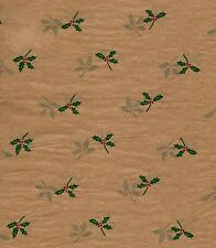 240 Sheets - Christmas Holly Tissue Paper # 763 - Bulk Pricing*