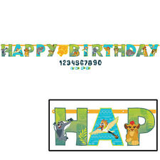 Lion Guard Party Supplies Jumbo 3 meter ADD AN AGE LETTER BANNER KIT
