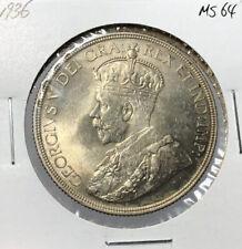 Canada 1936 Silver Dollar $1
