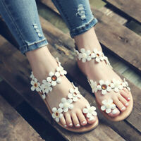 Womens Flat Sandals Gladiator Flip Flops Summer Boho Strappy Casual Beach Shoes