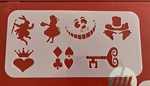 Alice In Wonderland Themed Stencil For Face Painting/  Tattoos
