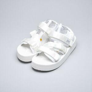 Suicoke OG-044VPO / KISEE-VPO White Nylon Vibram Platform Sole Sandals Slippers