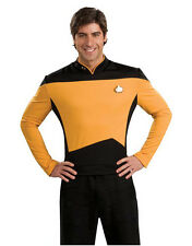 Star Trek Next Generation Costume, Mens Gold Costume Top,X-Large, CHEST 44 - 46""