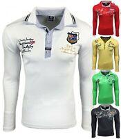 Herren T-Shirt Polo Shirt Langarm Clubwear Trend Sommer design M L XL XXL NEU