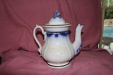 LARGE PORCELAIN WHITE & BLUE TEA / COFFEE POT Hand Made