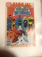 Batman Y Los Outsiders anual 1985 # 2 (VF/casi como nuevo) Precio canadiense variante CPV!