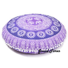 Purple Bohemian Decorative Floor Pillow Cushion Cover Mandala - 32""