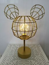More details for disney primark gold mickey mouse metal bedside lamp table lamp