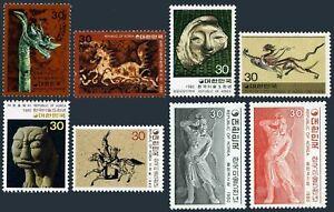 Korea South 1191-1198, 1093-94 MLH, other MNH. Mi 1194/1224. Art Treasure, 1980.