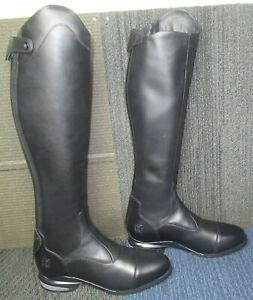 Mens ARIAT Nitro Max Tall Black Leather Equestrian Boots 11.5 D ~ Excellent