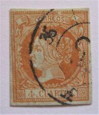 1860 Spain #50 used 4 Margins