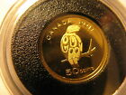 CANADA 2011 50 CENT FINE GOLD COIN PEREGRINE FALCON EXTREMELY LOW MINTAGE 2500