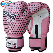 Farabi Junior Kids Boxing Gloves 4 oz Pink Training  Kick Boxing Pads Age 3-7